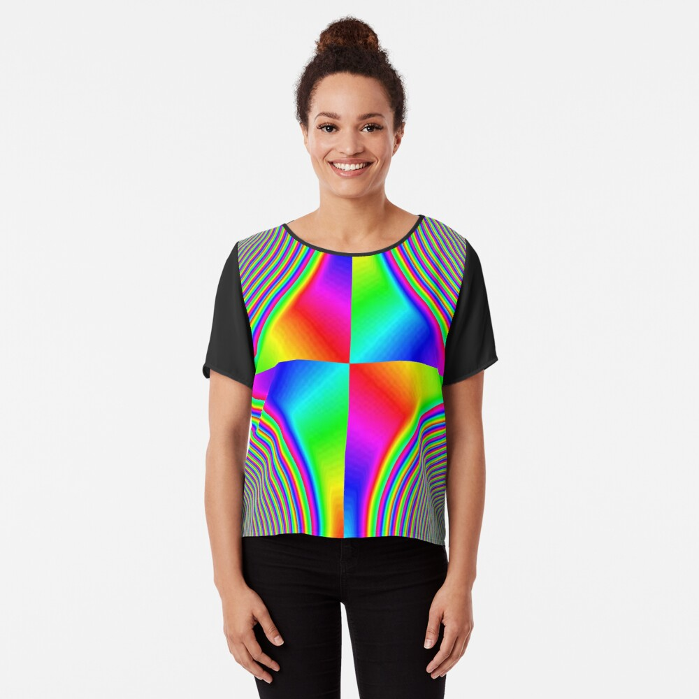 #Creativity, #rainbow, #bright, #prism, design, abstract, psychedelic, color image, multi colored Chiffon Top
