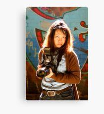 Camera Lady Canvas Print