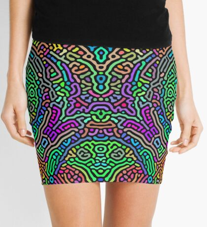Freaky Stencil Mini Skirt