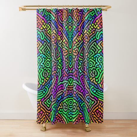 Freaky Stencil Shower Curtain
