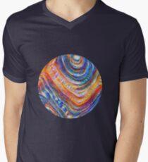 #Deepdreamed planet V-Neck T-Shirt