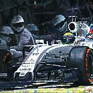 2015 Williams FW37 F1 Pit Stop Spain GP Massa  by Yuriy Shevchuk