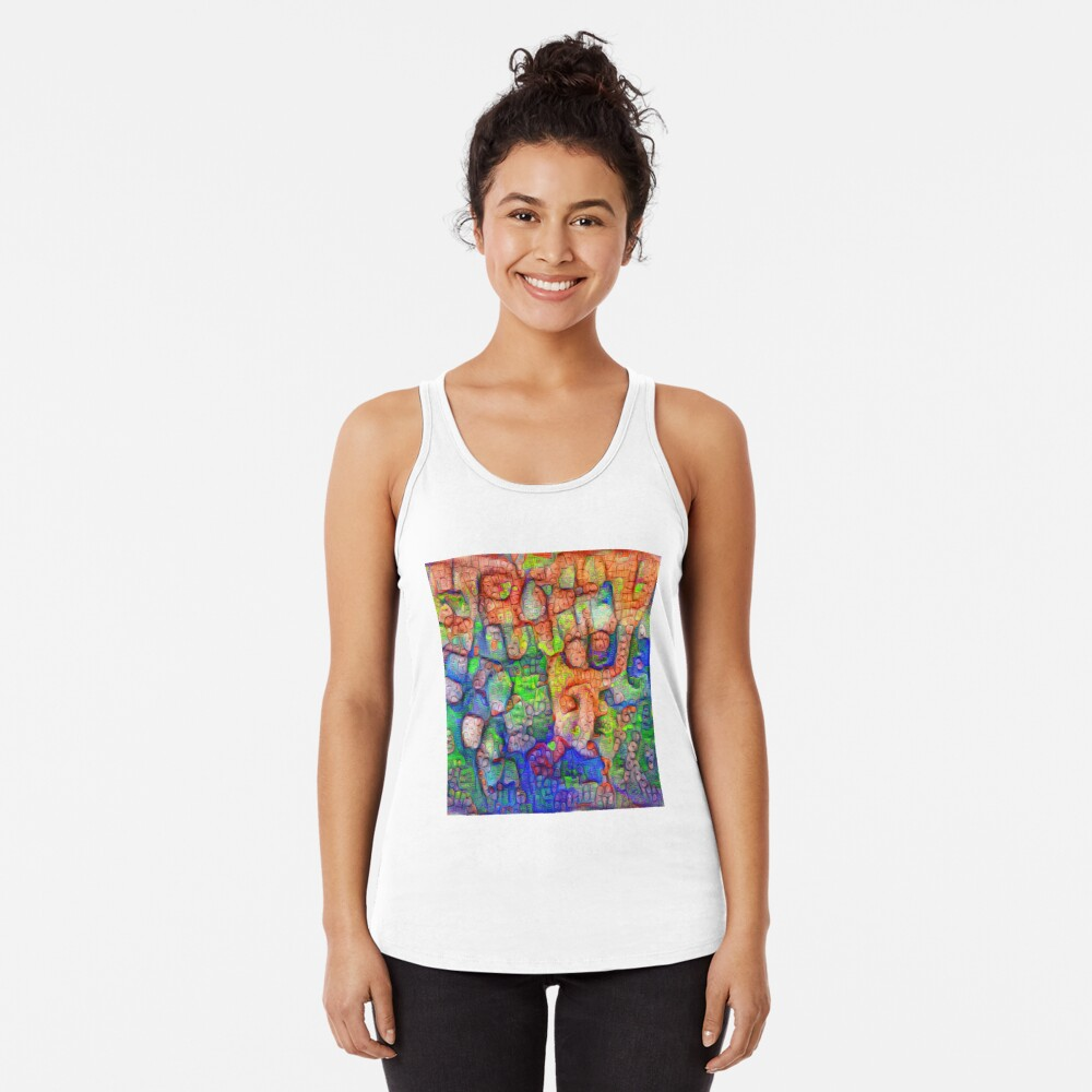 #Deepdreamed abstraction Racerback Tank Top