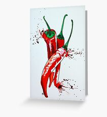 Chilli vertical Greeting Card