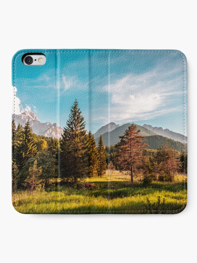 Alternate view of Summer has arrived in the italian alps iPhone Wallet