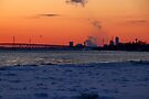 Looking North over the Frozen Niagara River by fototakerTony