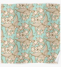 Vector other flowers seamless decorative pattern Poster