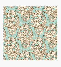 Vector other flowers seamless decorative pattern Photographic Print