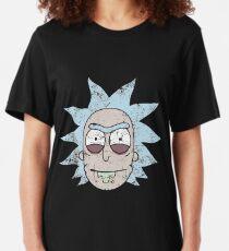 Vintage Evil Rick Face Slim Fit T-Shirt