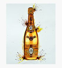 Cristal Champagne Bottle smaller Photographic Print