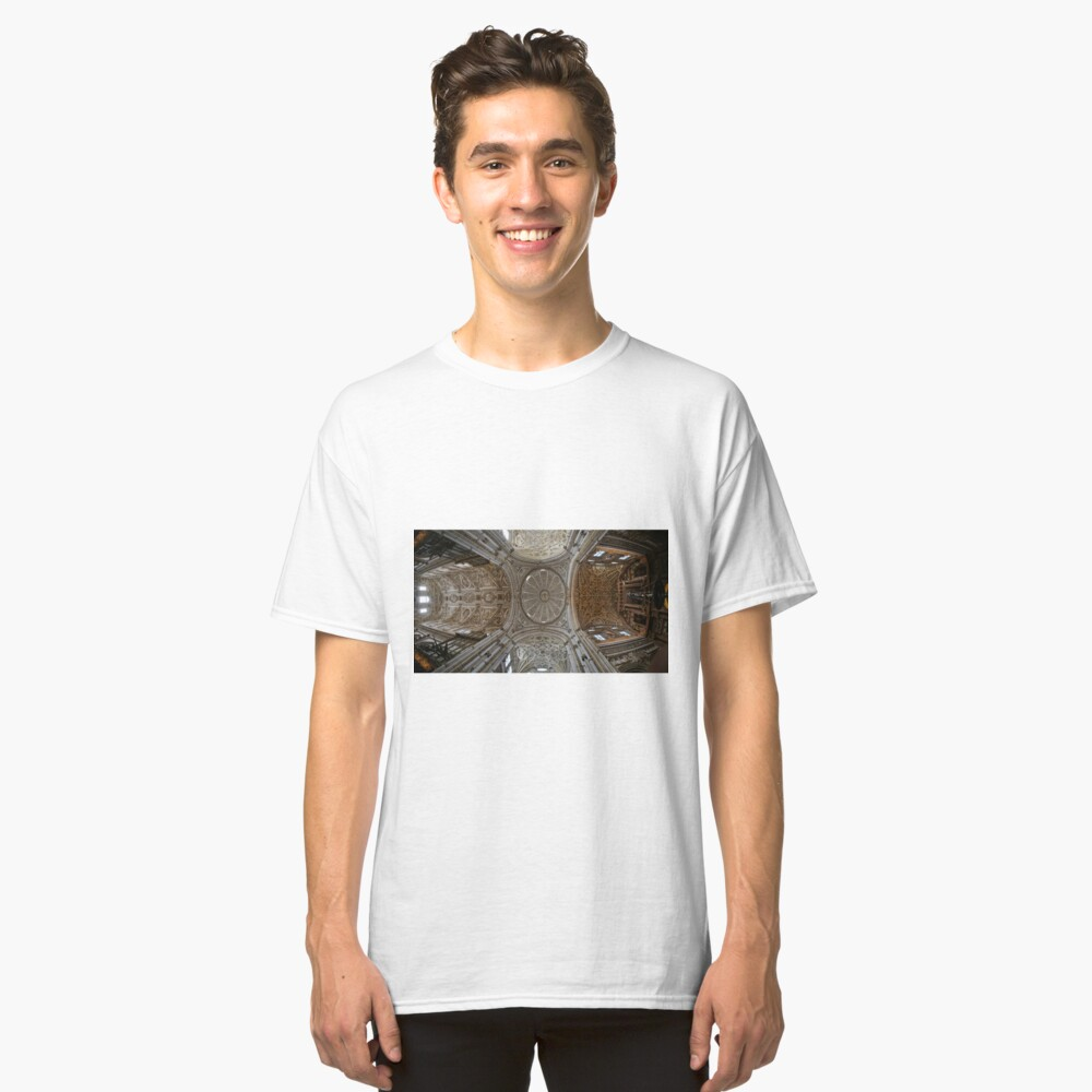 Looking UP at the Mezquita Cathedral Ceiling Classic T-Shirt