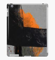 Minimal Orange auf Schwarz iPad-Hülle & Klebefolie