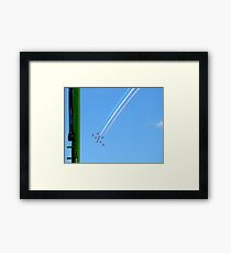 Red Arrows and the green column Framed Print