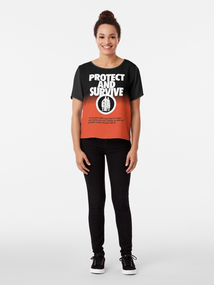Alternate view of NDVH Protect and Survive Chiffon Top