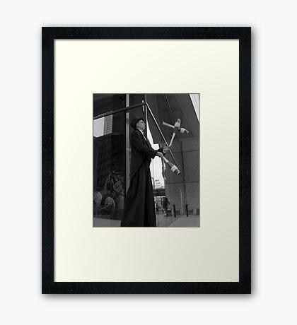 Street Juggler Framed Print