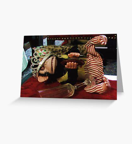 Musical Jolly Chimp Parties Too Hard Greeting Card