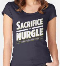 Sacrifice for Nurgle - Damaged Women's Fitted Scoop T-Shirt
