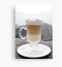 Layered Latte Canvas Print