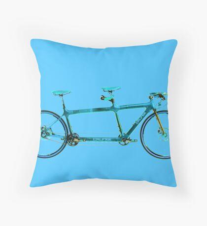 Tandem Bicycle Throw Pillow