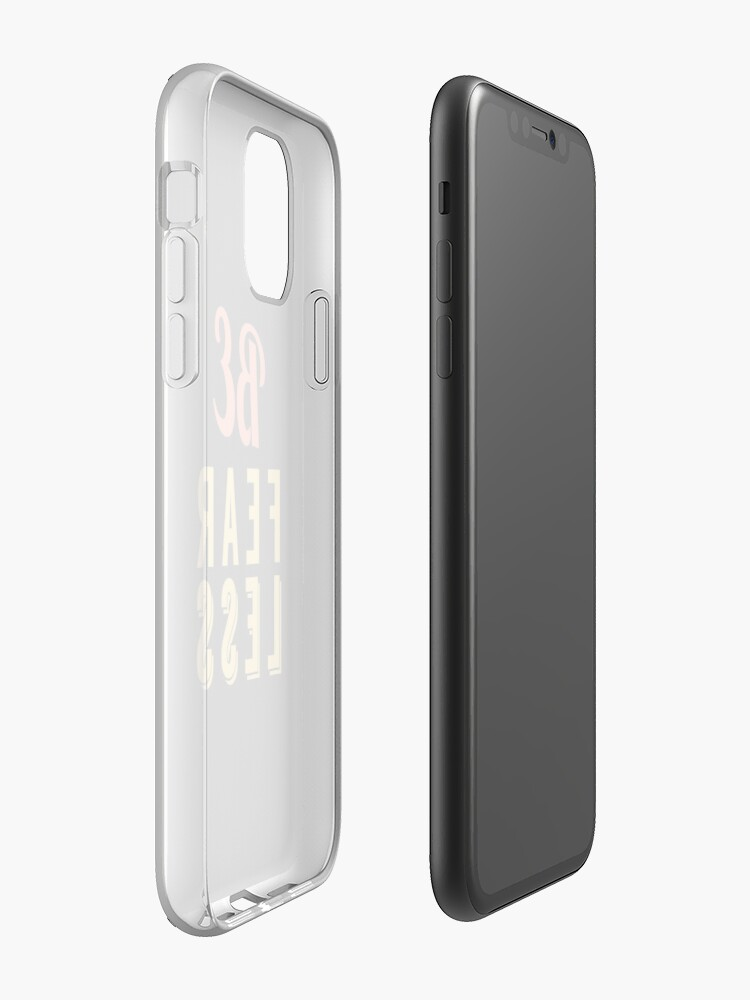 coque cuir iphone x apple , Coque iPhone «Être sans peur», par Binsagar