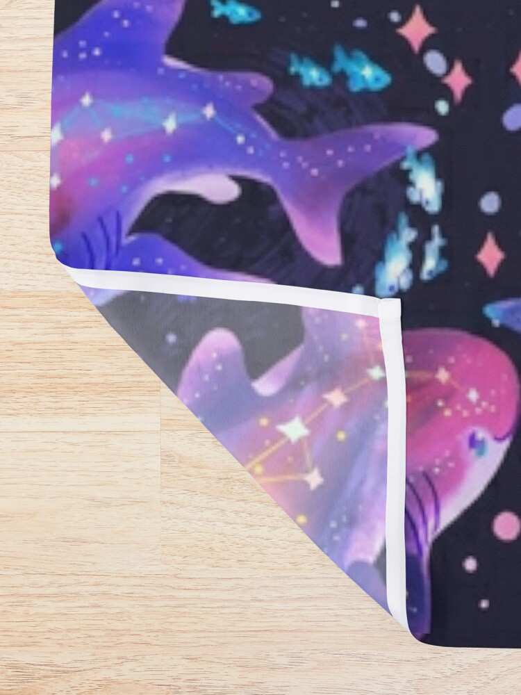 Alternate view of Cosmic Whale Shark Shower Curtain