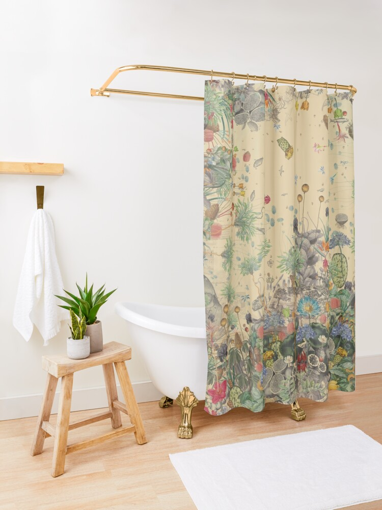 Alternate view of Garden Surround Shower Curtain