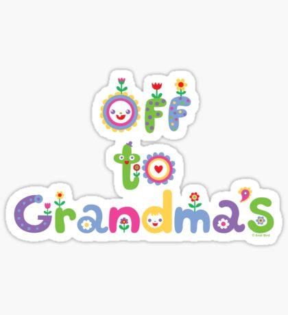 Off To Grandma's 2 - dark Sticker