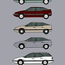 Citroen XM S1 classic car collection by RJWautographics