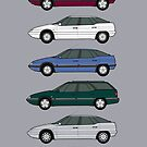 Citroen XM S2 classic car collection by RJWautographics