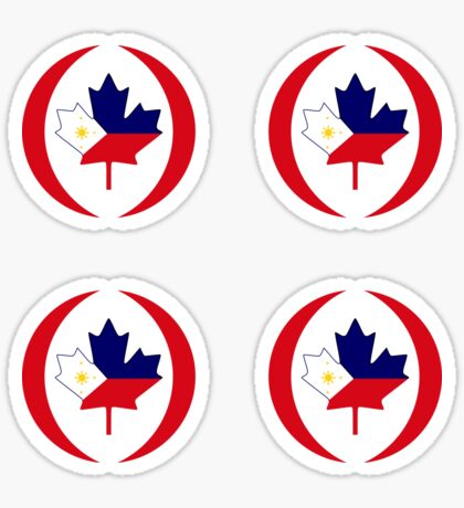 Filipino Canadian Multinational Patriot Flag Series Glossy Sticker