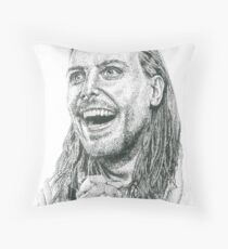 Dot Dot Dot Andrew WK  Throw Pillow
