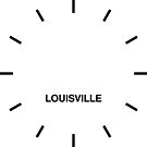 Louisville Time Zone Newsroom Wanduhr von bluehugo