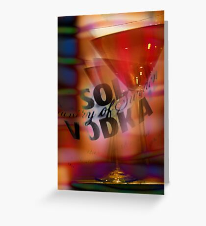 absolut vodka cosmopolitan Greeting Card