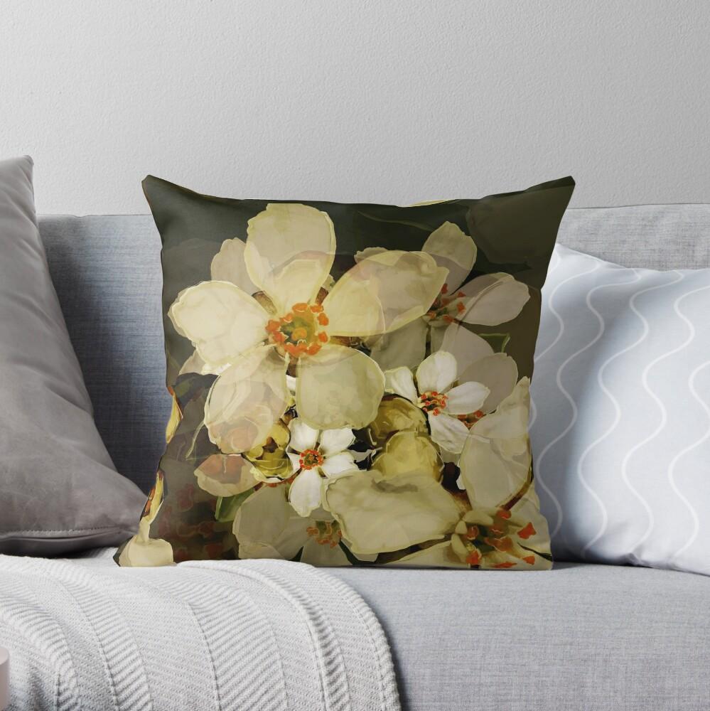 Alhambra Blossom IV Throw Pillow