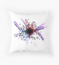 Music Explosion Throw Pillow