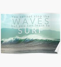 Surf Waves of Hawaii Poster