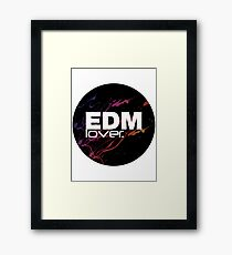 EDM (Electronic Dance Music) Lover. Framed Print