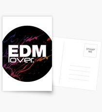 EDM (Electronic Dance Music) Lover. Postcards