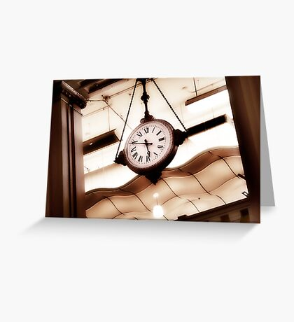 big clock Greeting Card