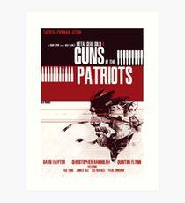 Patrioten - Metal Gear Kunstdruck