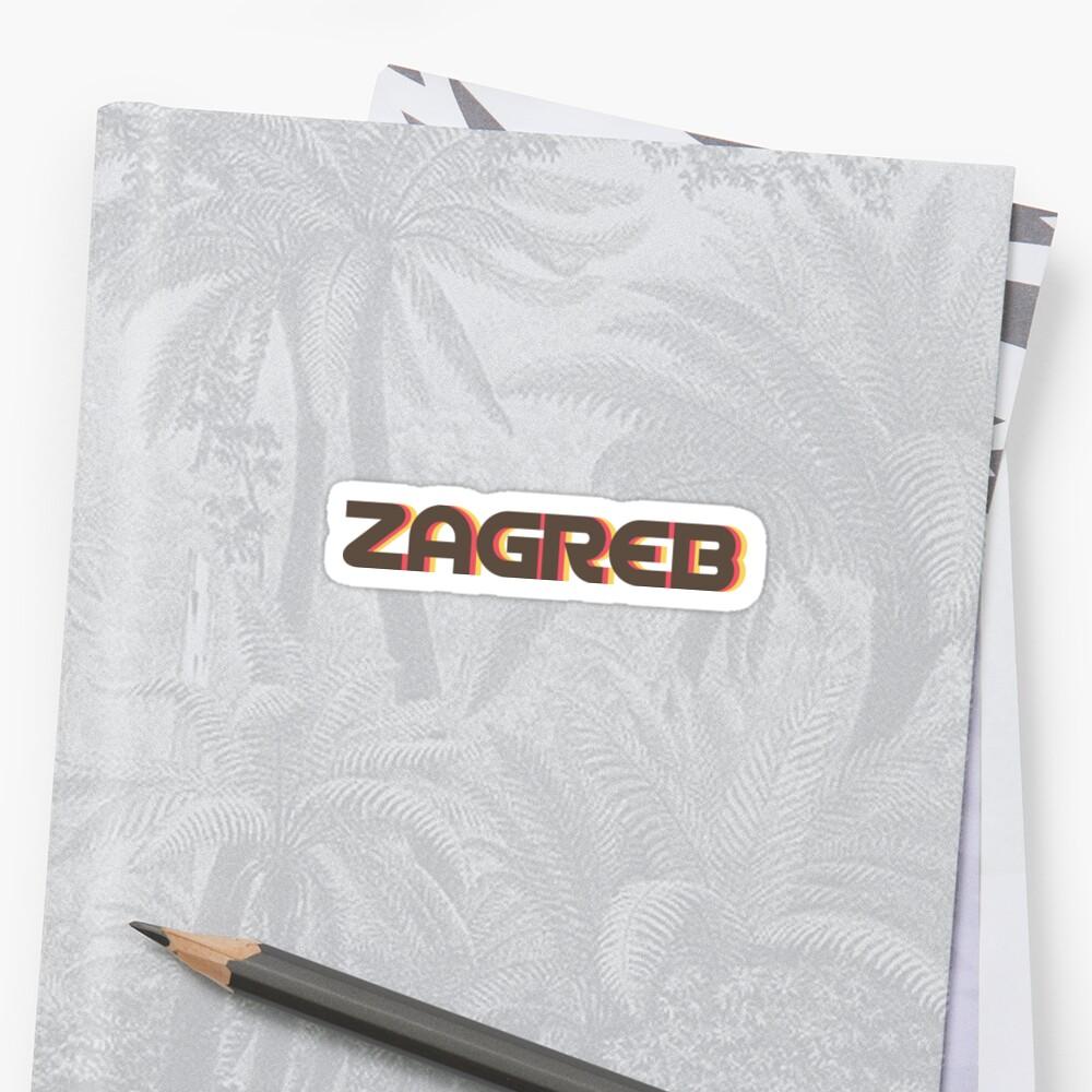 Zagreb Retro Sticker