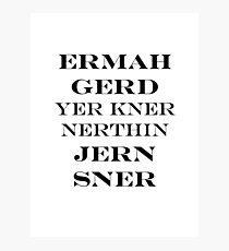 Ermahgerd Jon Snow - Game of Thrones Photographic Print
