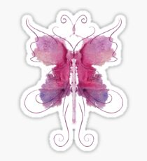 Rose Butterfly Sticker