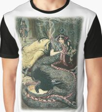 MARINA LAY UPON A COUCH AND FONDLED A FIERY DRAGON WITH HER RIGHT HAND Graphic T-Shirt