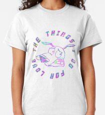 """Camiseta clásica """"Las cosas que hago por amor"""" Coraje el perro cobarde"""