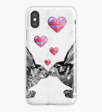 Bunny Rabbit Art - Hopped Up On Love 2 - By Sharon Cummings iPhone Case/Skin