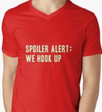 Spoiler Alert: We Hook Up (light lettering) Men's V-Neck T-Shirt