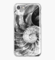 Black And White Nautilus Shell By Sharon Cummings iPhone Case/Skin