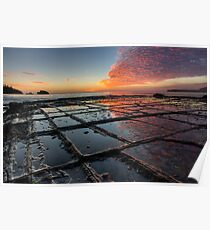 Tessellated Pavement Sunrise Poster