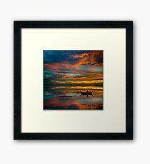 Sunset in Thailand Framed Print